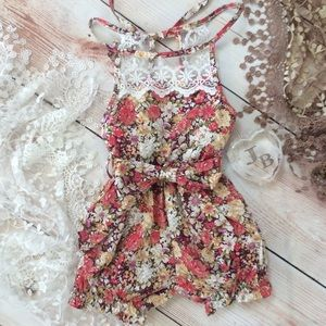 Other - Boutique Baby Girl Floral & Lace Romper